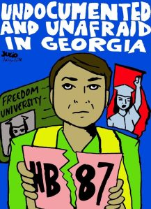 Art by activist Julio SalgadoMore info at http://www.facebook.com/freedomuniversitygeorgia