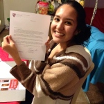 My official letter of acceptance from Harvard!