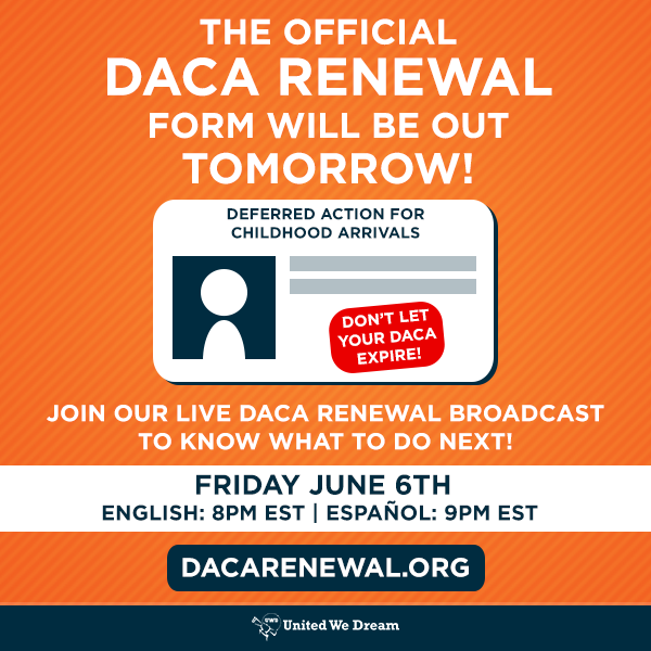 DACA renewal forms are here! – My Undocumented Life